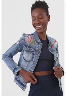Jaqueta Jeans Desigual Bordada Azul - Kanui
