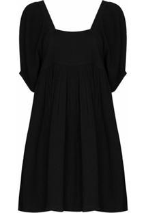 Anaak Vestido Brigitte Decote Quadrado - Preto