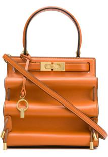 Tory Burch Bolsa Tote Lee Radziwill Petite Accordion - Laranja