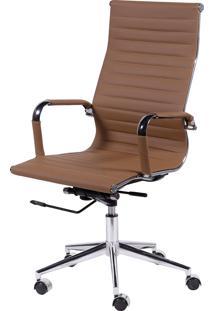 Cadeira Office Eames Esteirinha Alta Giratória Caramelo Or Design