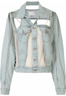 Ground Zero Jaqueta Jeans Com Recorte Vazado - Azul