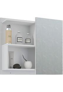 Espelheira Suspensa Para Banheiro Lis 54X60Cm Branco