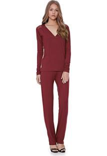 Pijama Lua Luá Comfort Lamont Vinho