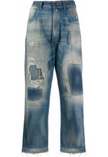 Maison Margiela Calça Jeans Com Efeito Destroyed - Azul