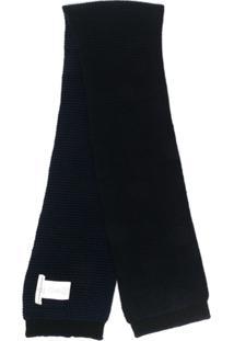Golden Goose Cachecol Com Patch De Logo - Azul