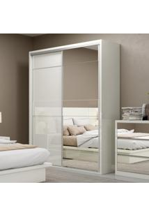 Guarda-Roupa Casal 2 Portas 2 Gavetas 100% Mdf Tw201E Off White - Dalla Costa