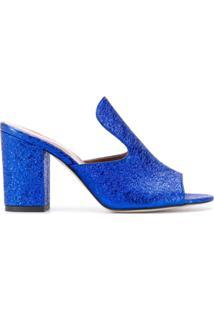 Paris Texas Sandália Com Efeito Craquelado - Azul