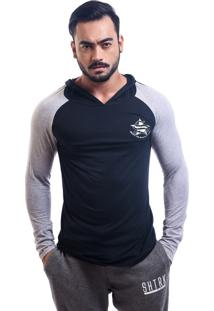 Blusa Fitted Shatark Old School - Preto