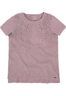 T-Shirt Em Malha De Algodão Com Aplicações