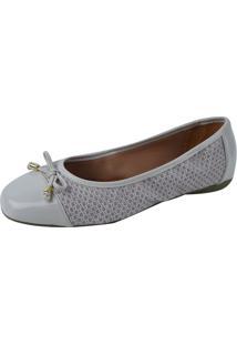 Sapatilha Lelive Calçados Bico Quadrado Lacinho Branco