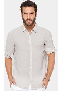 Camisa Social Ellus Clássica Masculina - Masculino