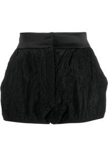 Dolce & Gabbana Short De Seda - Preto