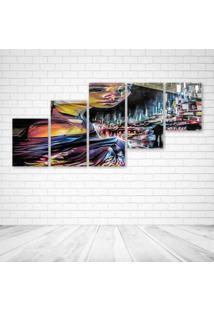 Quadro Decorativo - Girl (2) - Composto De 5 Quadros - Multicolorido - Dafiti