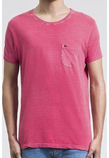 Camiseta Salt 35G Pocket Pink Masculina - Masculino-Rosa