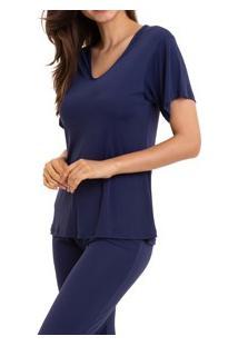 Pijama Longo Liganete Sepie (1052) Marinho