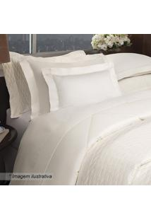 Jogo De Cama Eternity Queen Size- Off White- 4Pçs