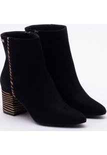 Ankle Boot Nobuck Zebrina Preta