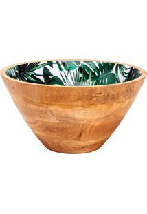 Saladeira De Madeira 30X16Cm Leafage - Bon Gourmet - Marrom