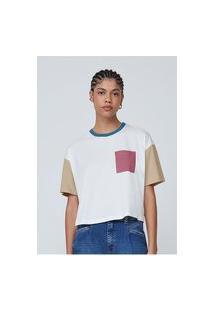 Camiseta Manga Curta Feminina Color Block