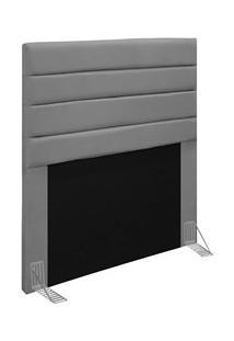 Cabeceira Cama Box Solteiro 90Cm Rubi D10 Suede Cinza - Mpozenato