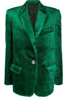 Attico Jaqueta Oversized Bianca - Verde