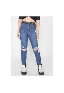 Calça Jeans John John Boyfriend Guadalupe Destroyed Azul