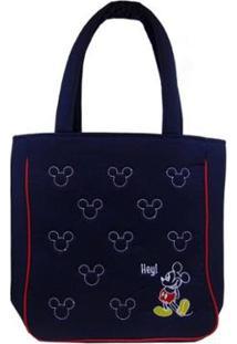 Bolsa Grande Via Luna Mickey Feminina - Feminino-Azul