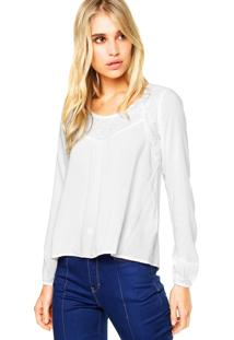 Blusa Vínculo Basic Renda Branca
