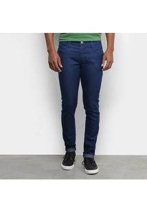 Calça Jeans Skinny Forum Igor Lisa Básica Masculina - Masculino-Azul