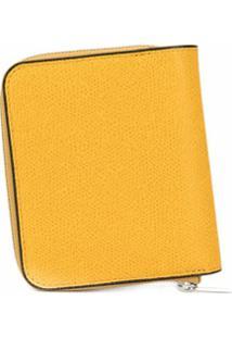 Valextra Carteira Matelassê Com Zíper - Amarelo