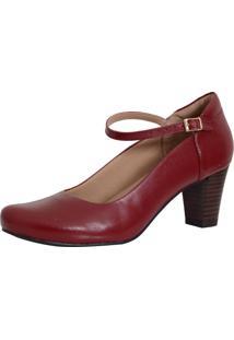 Sapato Laura Prado Boneca Confort Vermelho