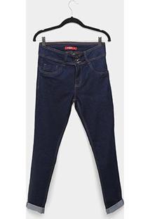 Calça Jeans Biotipo Alice Plus Size Skinny Feminina - Feminino-Azul