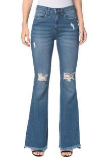 Calça Jeans Five Pockets Jeans Ckj 040 High Rise Flare - Azul Claro Calça Jeans Five Pockets High Rise Flare - Azul Claro - 34