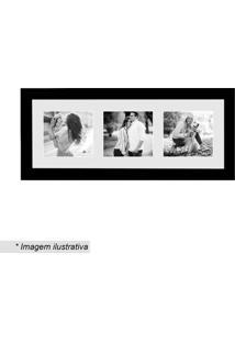 Painel Insta Para 3 Fotos- Preto & Branco- 15X38X1,5Kapos