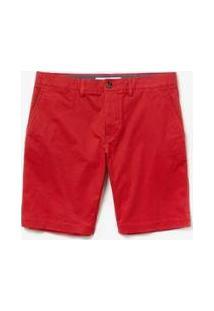 Bermuda Lacoste Slim Fit Masculina - Masculino-Vermelho