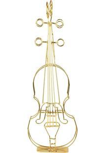 Enfeite Violino Dourado Kasa Ideia