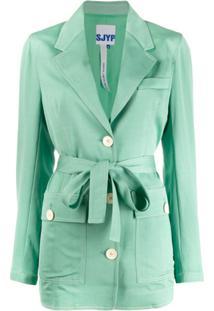 Sjyp Belted Jacket - Verde