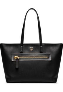 Tom Ford Zip Tote Bag - Preto