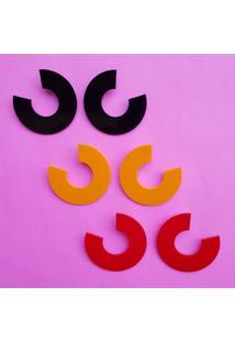 Brinco De AcrãLico CãRculo DesconstruãDo - Azul/Branco/Laranja/Multicolorido/Pink/Preto/Rosa/Vermelho - Feminino - Dafiti
