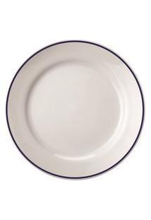 Prato Sobremesa 19 Cm Porcelana Schmidt - Dec. Filete Azul