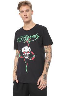 Camiseta Ed Hardy Skull & Snake Preta