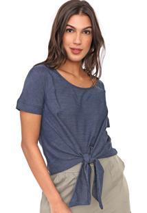 Blusa Cativa Amarração Azul-Marinho