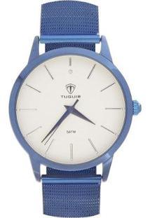Relógio Tuguir Analógico Tg106 Feminino - Feminino-Azul+Branco
