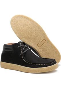 Sapato Casual Couro Épico Chalapão Masculino - Masculino-Preto