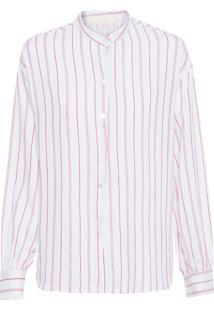 Camisa Feminina Nukutavake - Branco E Vermelho