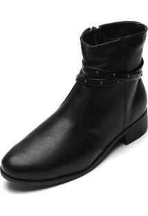 Bota Dafiti Shoes Tachas Preta