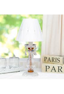 Abajur Paris Cristal Com Perola