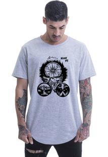 Camiseta Longline Blast Fit Cinza