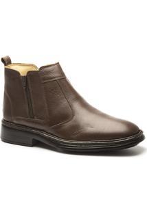 Bota Comfort Doctor Shoes - Masculino-Café