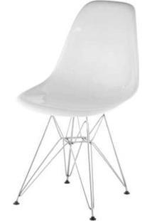 Cadeira Eames Policarbonato Branca Off White Base Cromada - 17851 - Sun House